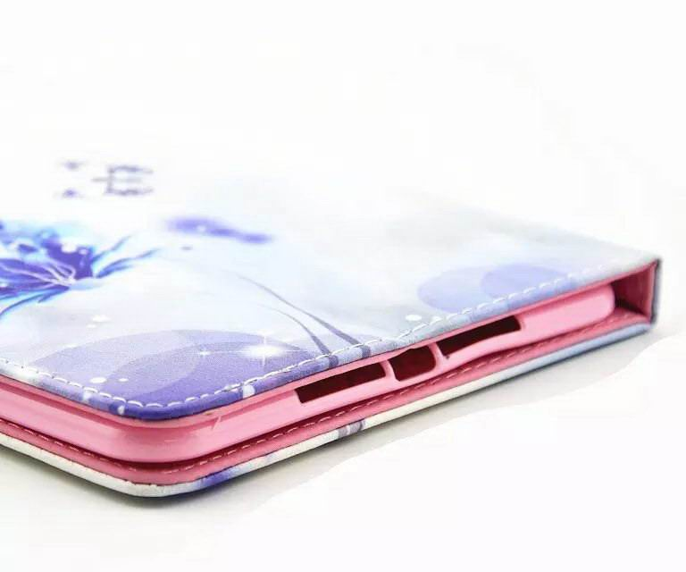 Case with flowers or girl and rhinestones for Apple iPad Mini 1, iPad Mini 2, iPad Mini 3, iPad Mini 4