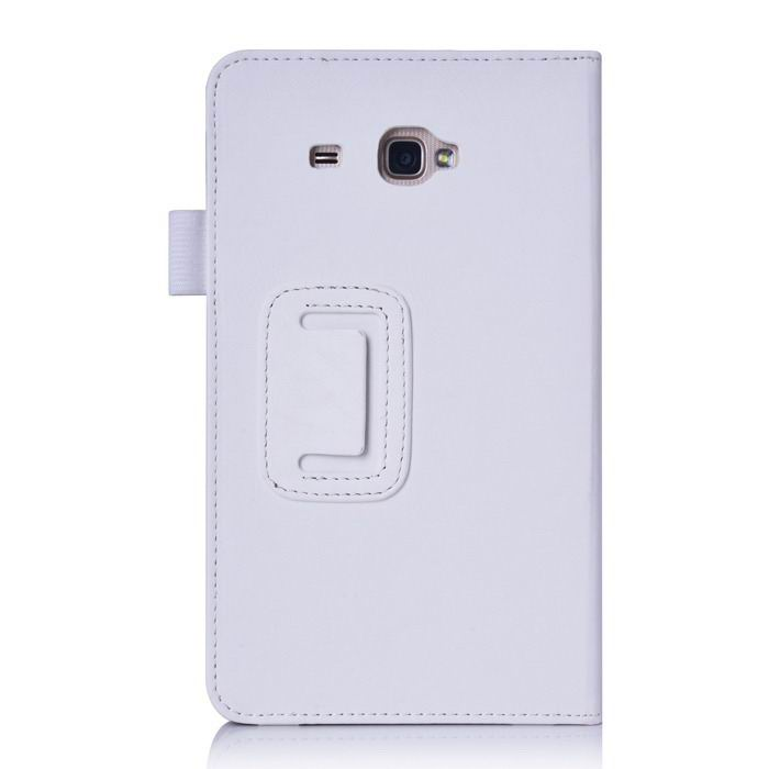 galaxy tab j case with hand loop stand and pockets White: