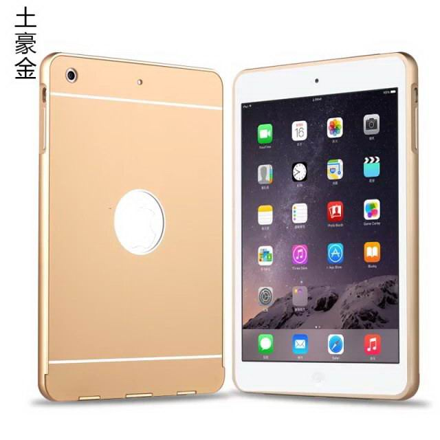 case with metal frame for apple ipad mini 1 ipad mini 2 ipad mini 3 0