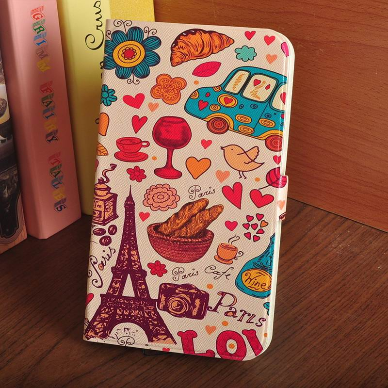 galaxy tab a 7 0 2016 case with multi illustration pattern Paris: