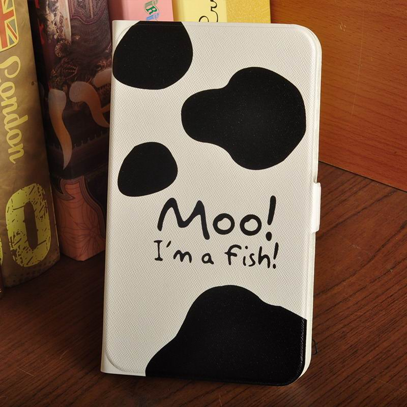 galaxy tab a 7 0 2016 case with multi illustration pattern Cows: