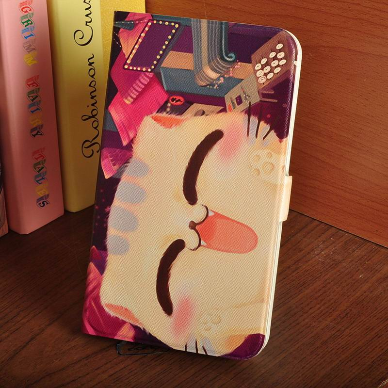 galaxy tab a 7 0 2016 case with multi illustration pattern The horizontal face of the cat:
