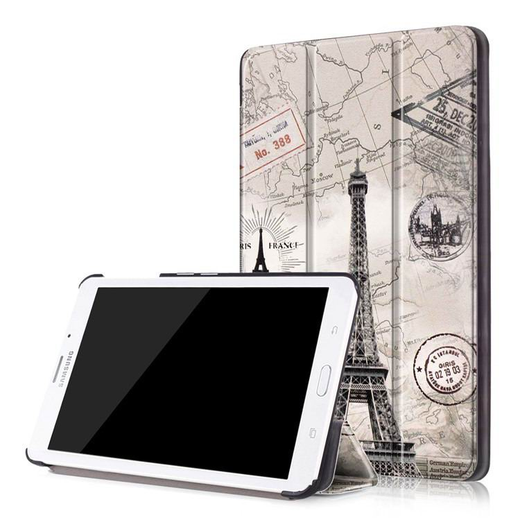 galaxy tab j case with multi painting illustration and stand
