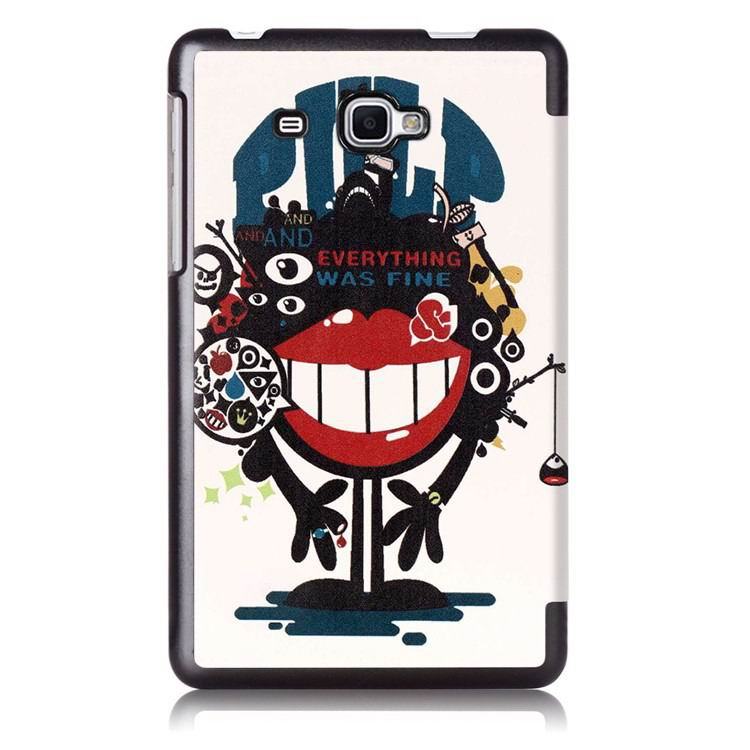 galaxy tab j case with multi painting illustration and stand Big mouth to blame: