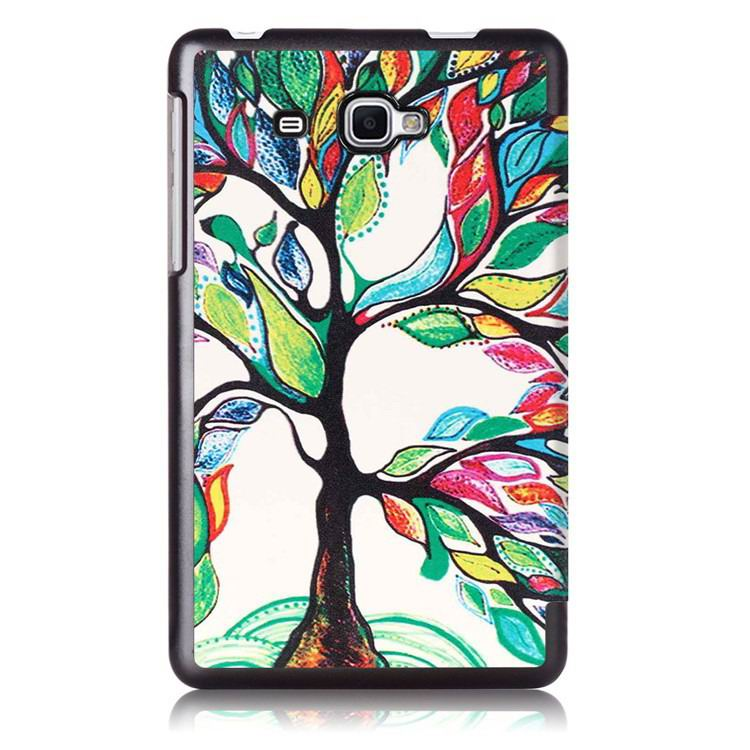 galaxy tab j case with multi painting illustration and stand Happy tree:
