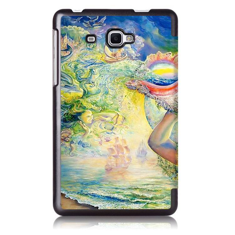 galaxy tab j case with multi painting illustration and stand Girl: