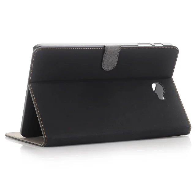 galaxy tab a 10 1 2016 case with multicolor leather pattern and business style Black: