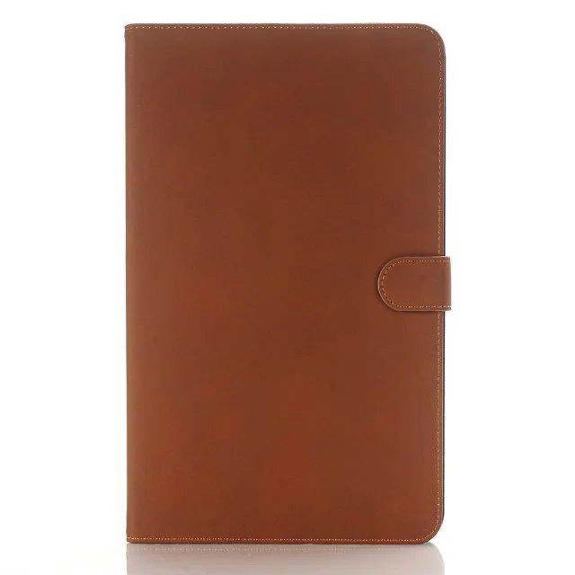 galaxy tab a 10 1 2016 case with multicolor leather pattern and business style Brown: