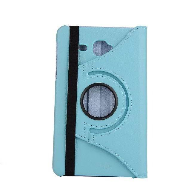 Case with rotation stand and multicolor pattern for Samsung Galaxy Tab J
