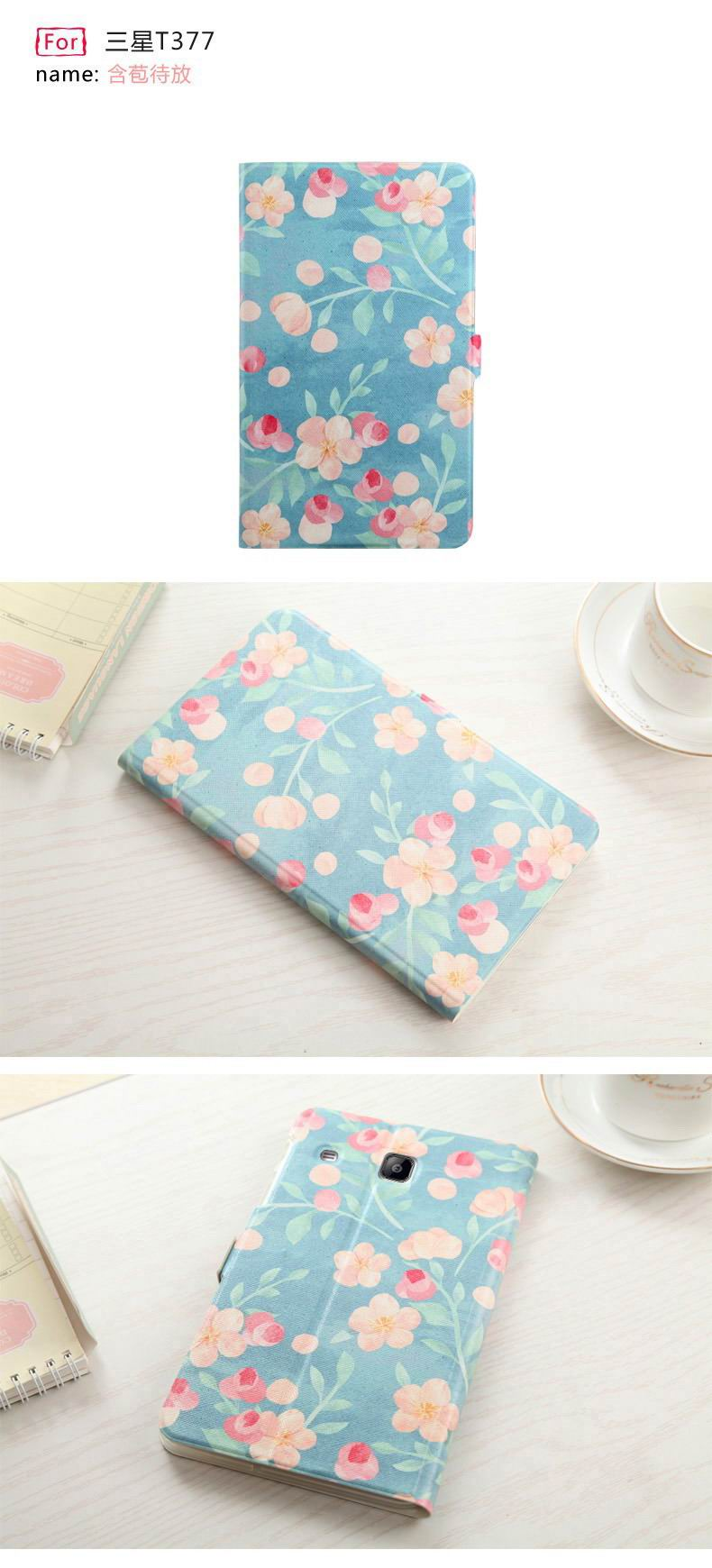 Case with stand and multi painting illustration for Samsung Galaxy Tab E 8.0 T377V