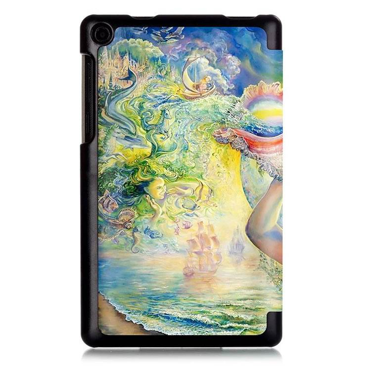 Case with stand and multi painting illustrations for tablet Lenovo tab3 7