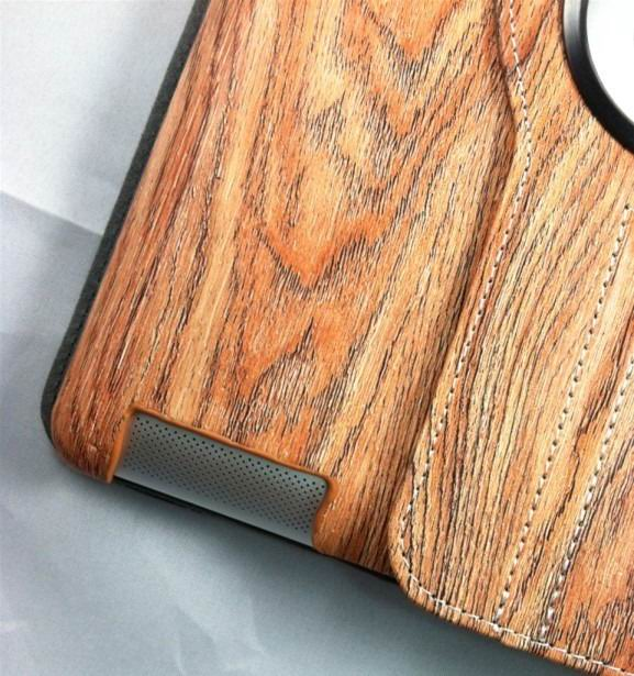 ipad 4 case with wood style and 360 stand