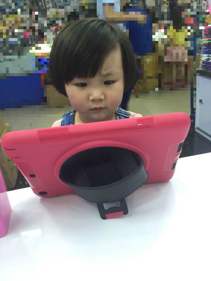 Cover for children with rotating stand for Apple iPad Mini 1, iPad Mini 2, iPad Mini 3, Apple iPad 2, iPad 3, iPad 4, Apple iPad Air 1, iPad Air 2