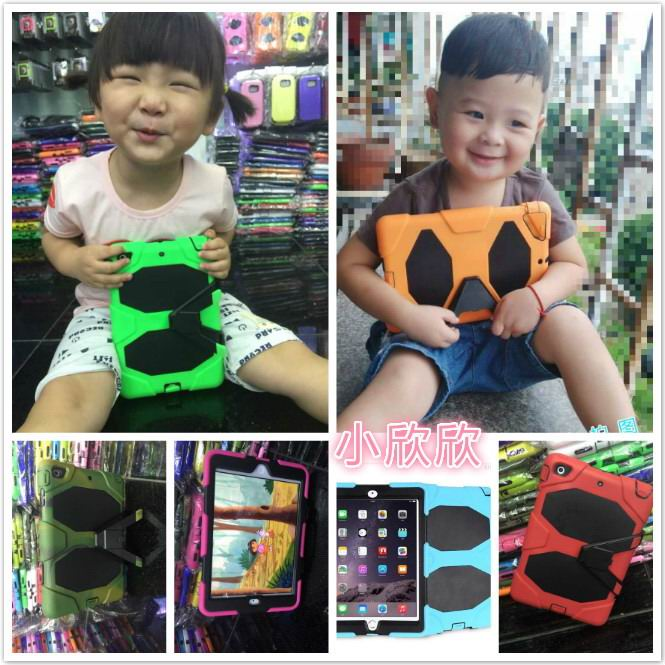 Cover for children with stand for Apple iPad Mini 1, iPad Mini 2, iPad Mini 3, Apple iPad 2, iPad 3, iPad 4, Apple iPad Air 1, iPad Air 2