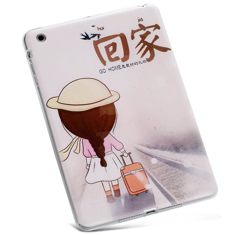Cover with cartoon pictures of Doraemon, bear, cat apd other for Apple iPad Air 1, iPad Air 2