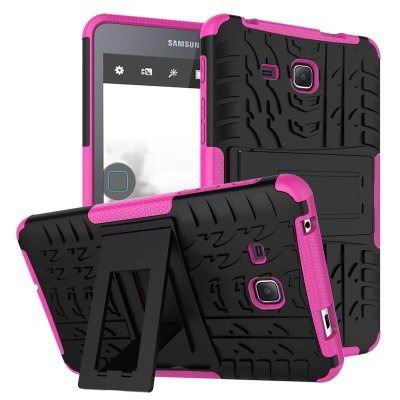 galaxy tab a 7 0 2016 cover with protective functionality and stand Rose red: