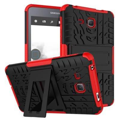 galaxy tab a 7 0 2016 cover with protective functionality and stand Red: