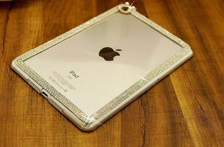 Cover with rhinestones for Apple iPad Mini 1, iPad Mini 2, iPad Mini 3, iPad Mini 4, Apple iPad Air 1, iPad Air 2