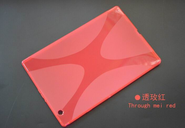 xperia z4 tablet cover with transparent multicolor pattern Rose red: