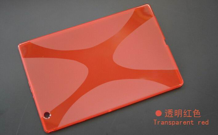xperia z4 tablet cover with transparent multicolor pattern Red: