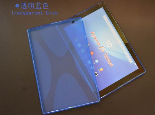xperia z4 tablet cover with transparent multicolor pattern Blue: