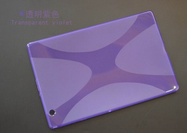 xperia z4 tablet cover with transparent multicolor pattern Purple: