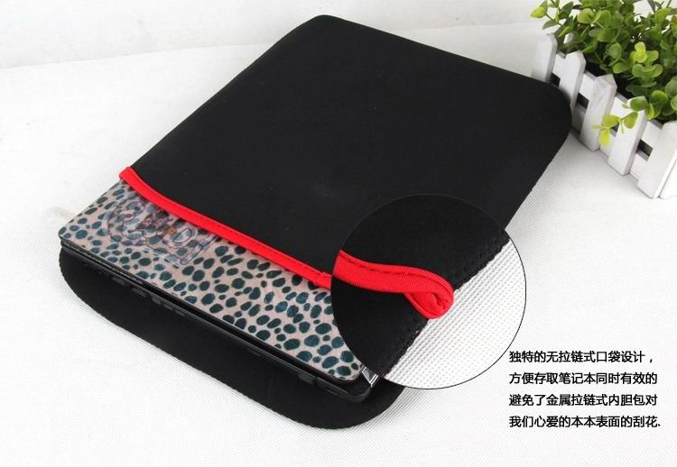 Double-sided sleeve with black and red colors for Sony Xperia Z4 Tablet