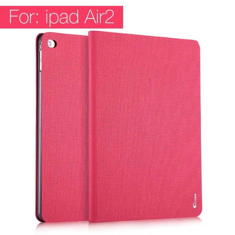ipad air 2 guoer case with business style milticolor pattern and stand Rose red: