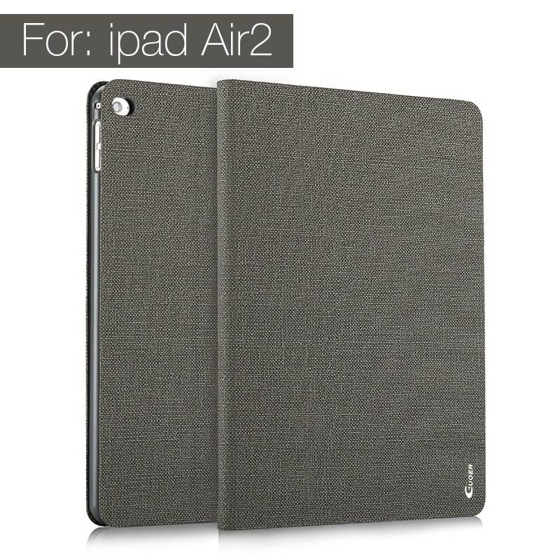 ipad air 2 guoer case with business style milticolor pattern and stand Gray: