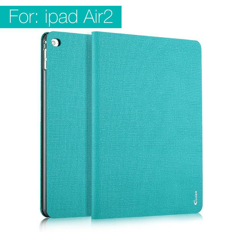 ipad air 2 guoer case with business style milticolor pattern and stand Green: