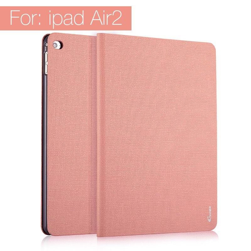 ipad air 2 guoer case with business style milticolor pattern and stand Pink: