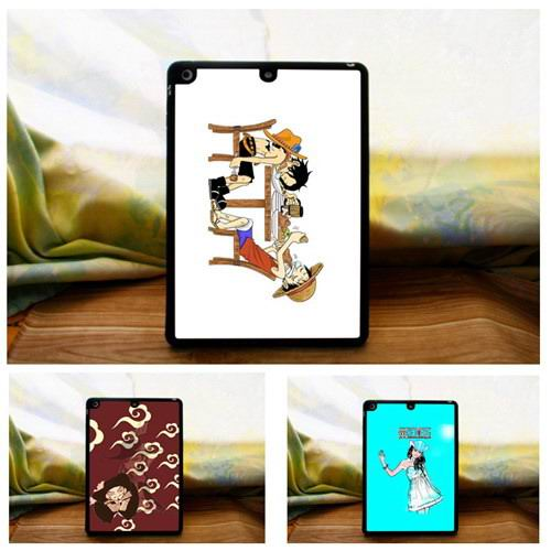 Metal Cover with Silicone border with animation pictures for Apple iPad Air 1, iPad Air 2