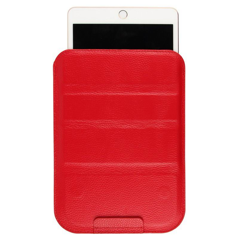 mediapad m3 milticolor sleeve with stand Head layer genuine leather red: