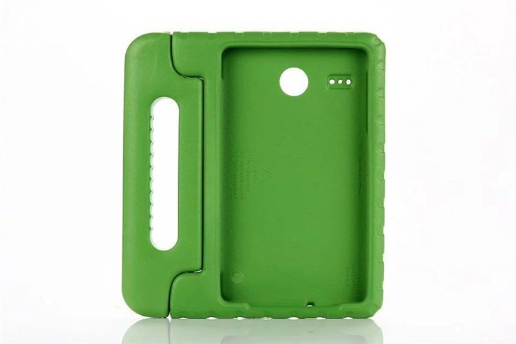galaxy tab e 8 0 plastic cover children multicolor pattern with hand holder and stand 2 Green: