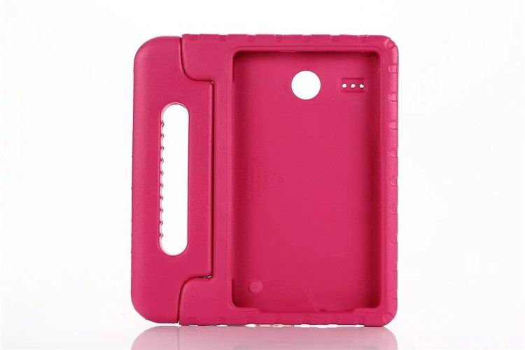 galaxy tab e 8 0 plastic cover children multicolor pattern with hand holder and stand 2 Rose: