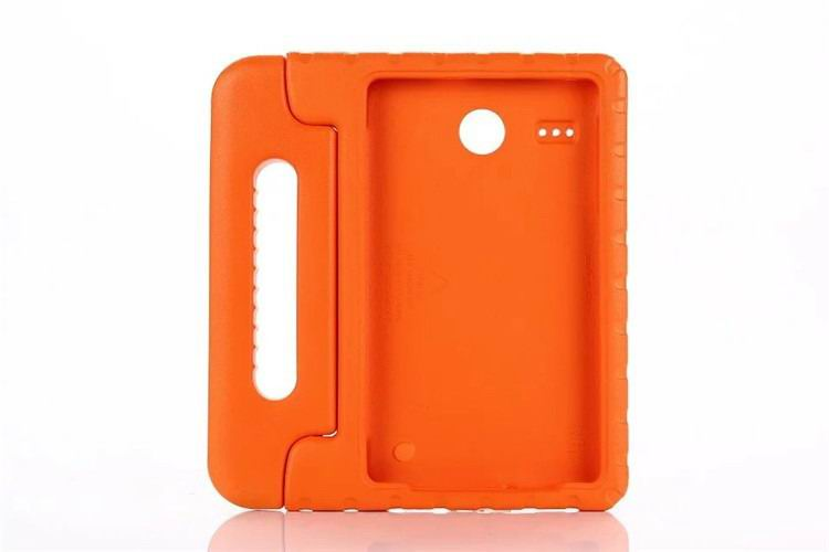 galaxy tab e 8 0 plastic cover children multicolor pattern with hand holder and stand 2 Orange: