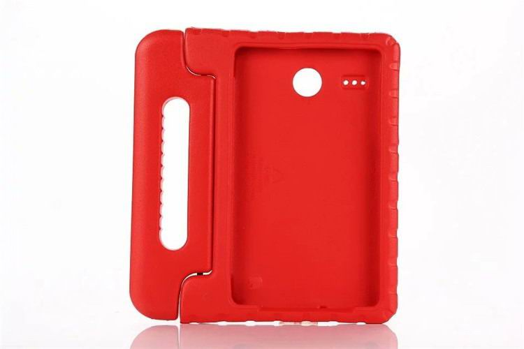 galaxy tab e 8 0 plastic cover children multicolor pattern with hand holder and stand 2 Red: