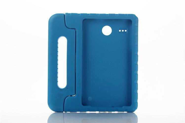 galaxy tab e 8 0 plastic cover children multicolor pattern with hand holder and stand 2 Blue: