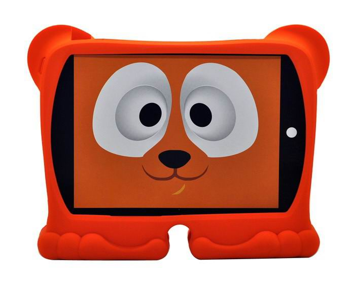 Silicone cover for children made in the form of animals for Apple iPad 2, iPad 3, iPad 4, Apple iPad Air 1, iPad Air 2