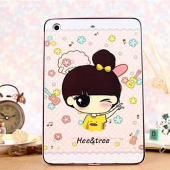 silicone cover with cute pictures of animals girls doraemon and other for apple ipad 00