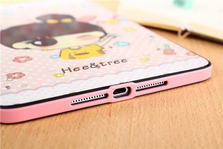 Silicone cover with cute pictures of animals, girls, Doraemon and other for Apple iPad Mini 1, iPad Mini 2, iPad Mini 3
