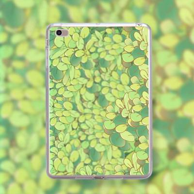 silicone cover with flowers for apple ipad 00