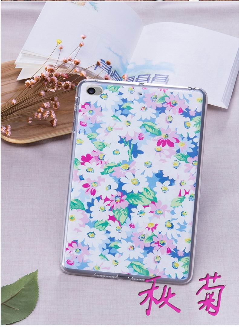 Silicone cover with flowers for Apple iPad Mini 4