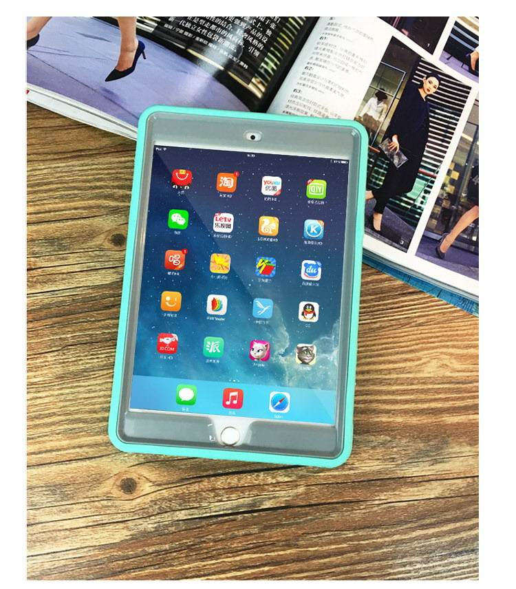 Silicone cover with rhinestones for Apple iPad Mini 1, iPad Mini 2, iPad Mini 3, iPad Mini 4
