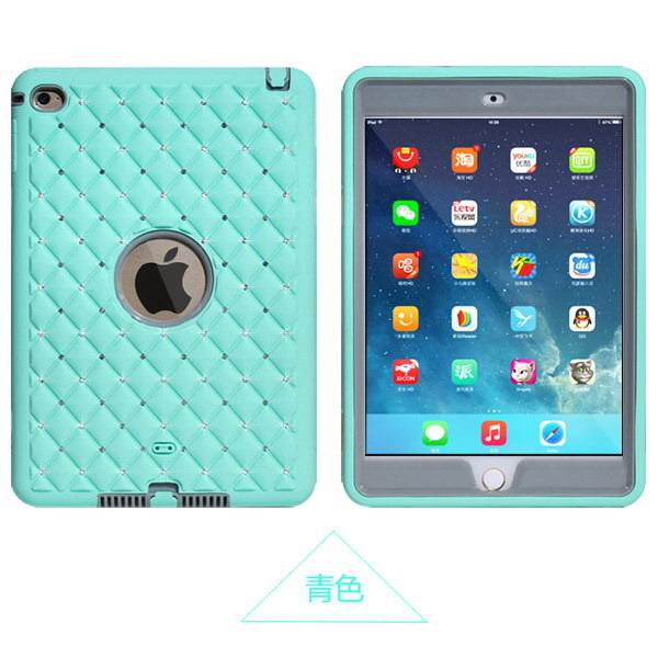 silicone cover with rhinestones for apple ipad 00