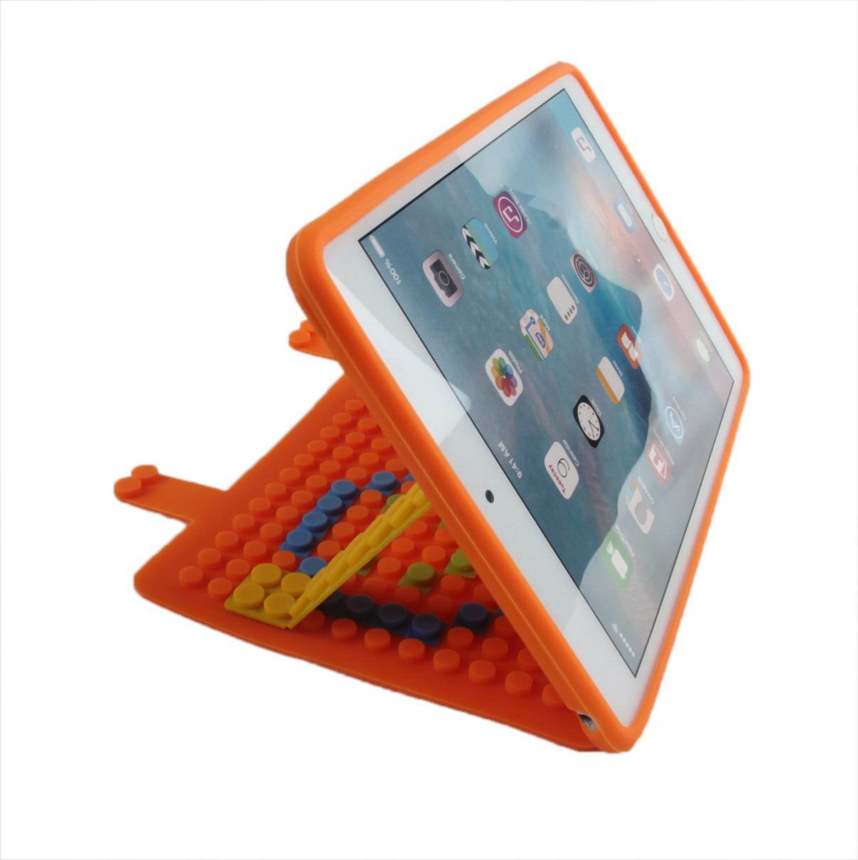 silicone non slip case made of a constructor for apple ipad 00