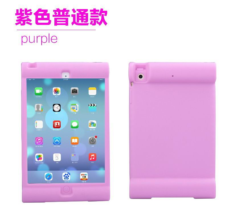 Silicone soft cover for children with stand for iPad Mini 1, iPad Mini 2, iPad Mini 3