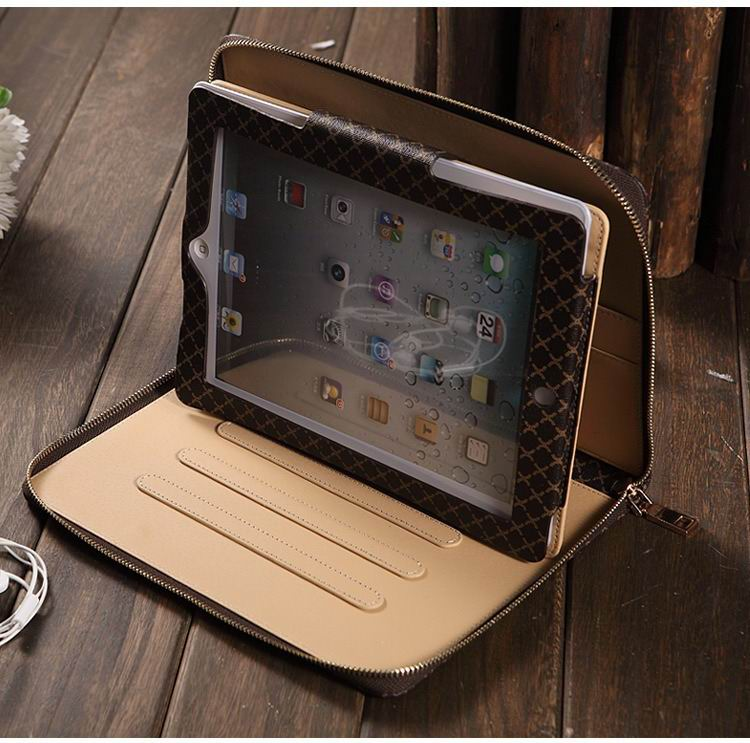 Sleeve business suitcase with stands, wrist loop and pockets for iPad Air 1, iPad Air 2