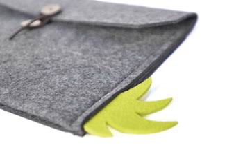 Sleeve of wool with buttons for Apple iPad Mini 1, iPad Mini 2, iPad Mini 3, iPad Mini 4