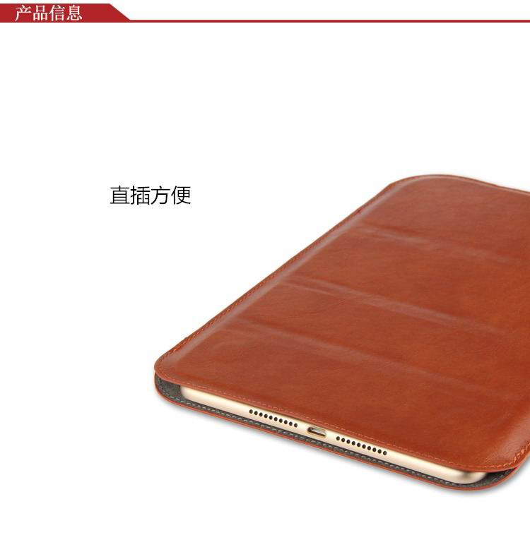 xperia z4 tablet sleeve with business style black and brown pattern and stand